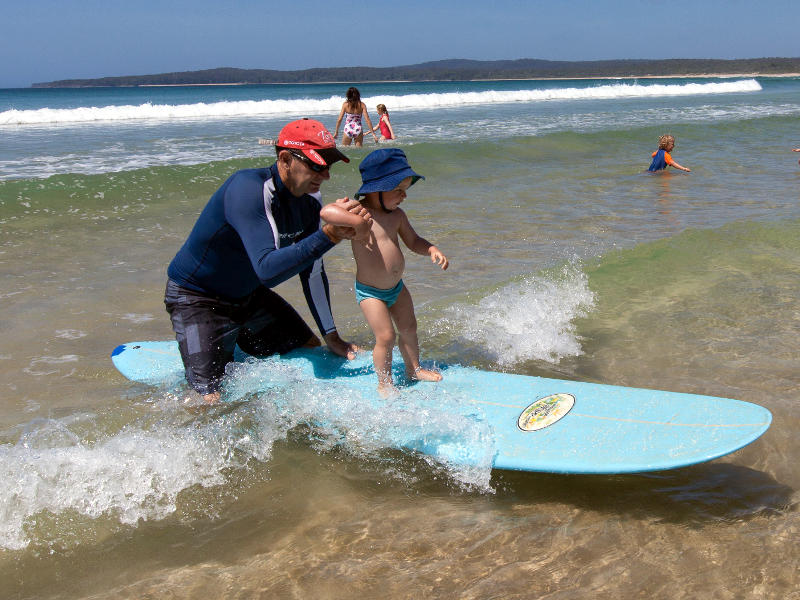 Surfing lessons at Calm Corner