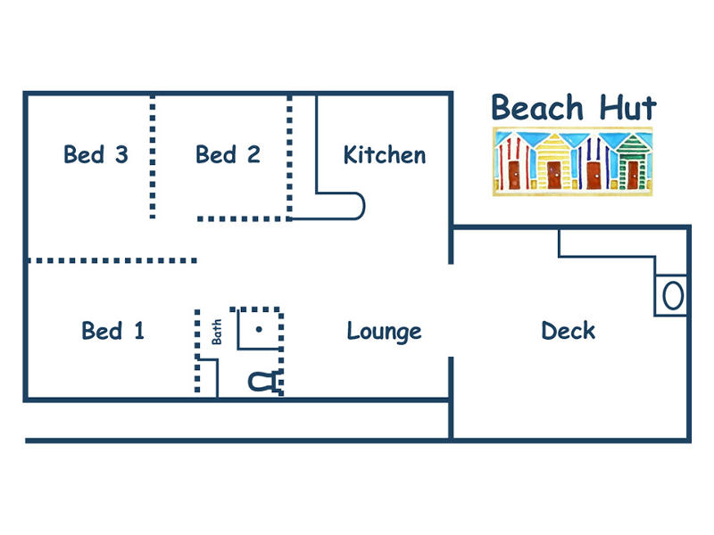 beach-hut-cottage Floor Plan